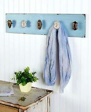 NEW Shabby Chic Distressed Old Fashioned Knobs Wall Hook Entryway Coat Hat Rack