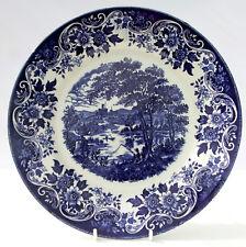 Vintage Broadhurst Blue White English Scene Dinner Plate