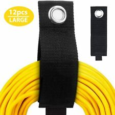 12 Pack Extension Cord Organizer,  Hook and Loop Storage wraps, hose rope wrap