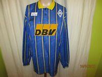"""Werder Bremen Original Puma Langarm Auswärts Trikot 1995/96 """"DBV"""" Gr.XL TOP"""
