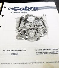 1987 7.5 Liter Omc Cobra Factory Part Catalog Engine Stern Drive