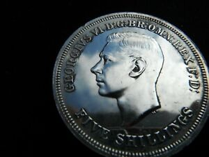 FIVE SHILLINGS-CROWN COIN 1951 FESTIVAL OF BRITAIN