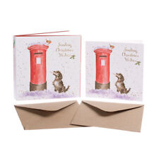 """Wrendale Designs Christmas Card Box Set of 8 Cards """"The Postmaster"""""""