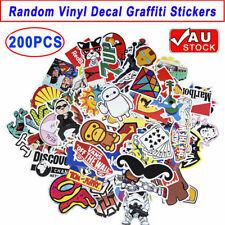 200PCS Vinyl Decal Graffiti Stickers Car Laptop Waterproof Skate Style Random AU