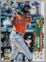 Yordan Alvarez- Astros IMAGE VARIATION ROOKIE CARD SP 🔥💎 2020 Topps Holiday RC