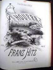PARTITIONS POUR PIANO DE FRANZ HITZ (1820-1891) 2 VOLUMES RELIES CUIR 1870 -L197
