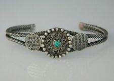 "Vintage NAVAJO Sterling Silver FRED HARVEY Turquoise Bracelet Sz.7""+- 1930's"