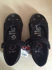Girls Black Shoes Size 7/24 BNWT