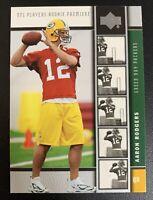AARON RODGERS 2005 Upper Deck ROOKIE Card RC#16 NFL MVP Green Bay Packers HOF