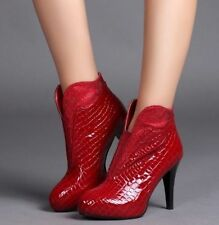 High (3 in. and Up) Block Leather Textured Heels for Women