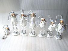 White & Glitter Sparkle Christmas Decoration Fairy Figurine Tall Short Various