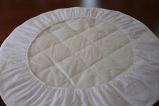 Round Bassinet Protector - suit  Cocoon Bassinett >> Cotton Quilted Top