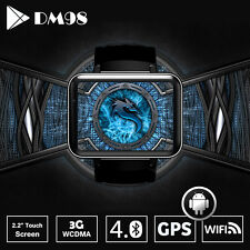 "DM98 3G/WiFi Smart Watch Cell Phone with 2.2"" Screen Android4.4 GPS Google play"