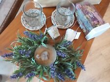 bougeoir, photophores, bougies esprit provençal côté maison + pot pourri ASHLEY