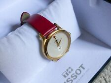 Red Tissot Bella Ora Ladies Watch, Excel Cond. Glamour, Fashion Watch, Leather