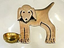Drinking Bowl Brooch Taxco, Mexico Vintage Sterling 925 Puppy Dog