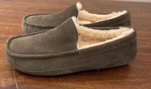 UGG ASCOT 1101110 CHARCOAL MEN'S SLIPPERS AUTHENTIC SIZE 9 WATER-RESISTANT NEW