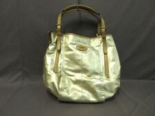 Auth TOD'S G Bag Gold LightBrown Coated Canvas &  Leather Tote Bag