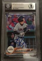 Bryan Reynolds Signed 2018 Topps Pro Debut Authentic Beckett Slabbed Giants #181