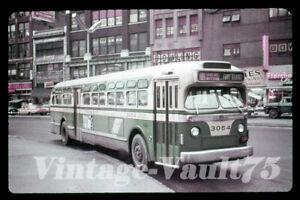 DUPLICATE SLIDE GM BUS 3054 STS SURFACE TRANSIT NEW YORK CITY 1960'S