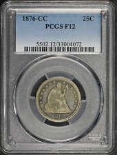 1876-CC Seated Liberty Silver Quarter PCGS F-12 -142054