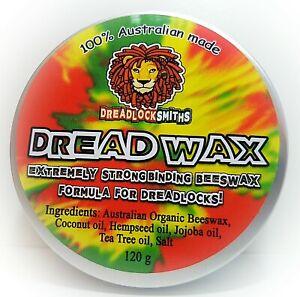 STRONG BINDING BEEESWAX DREAD WAX 4 TIGHT DREADLOCKS. 100% natural. Aussie made.