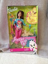 Barbie (Brunette) Stylin' Pup (2002) And Her Pup Ginger