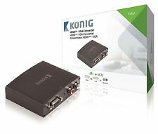 Konig HDMI Converter HDMI Input to VGA Female + 2x RCA