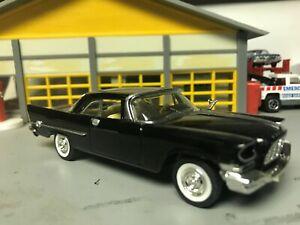 1/43 ERTL 1957 Chrysler 300 /Black/Beige Int/392 Hemi/2-4's/Rubber WW/Stock Caps