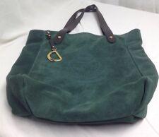 Lauren Ralph Lauren Green Suede Putnam Tote Bag Equestrian Accents Rare Sold Out