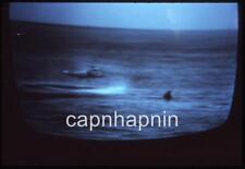 TV SCREEN Shot Helicopter Apollo 17 Moon Mission Splashdown Vtg 1972 Slide Photo