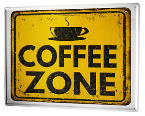Tin Sign XXL Restaurant Kitchens  Coffee zone