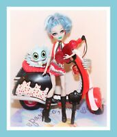 ❤️Monster High Ghoulia Yelps Doll SCOOTER Motorcycle Pet Exclusive Set❤️