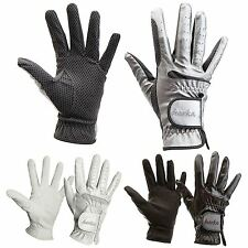 Horka Equestrian Shiny Leather Shine Coating Comfort Grip Horse Riding Glove