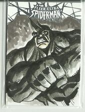 2017 Marvel Fleer Ultra Spider-Man Rhino Sketch Card - Allen Geneta