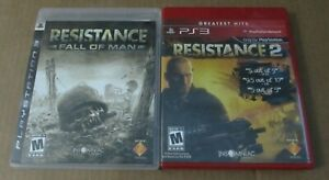 Resistance 1 & 2 - PS3 - Lot 2 Games PlayStation 3 Complete CIB Tested