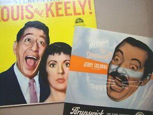 2 LPs of FIFTIES SCREAMERS !  - -  LOUIS PRIMA & KEELY SMITH /  JERRY COLONNA