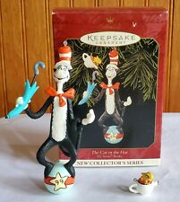 1999 Hallmark the Cat In The Hat Dr Seuss Books Collector Christmas Ornament
