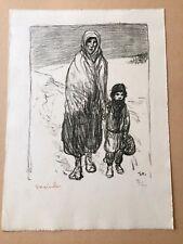 """Téophile Alexandre Steinlen """"La marche dans la neige"""" lithographie originale"""
