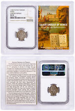 1268-1413 Italy Silver Grosso Venice-Renaissance- NGC AU50 Story Vault SKU50489