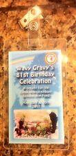 Wavy Gravy 81st Birthday Celebration laminate Berkeley CA 5/20/17