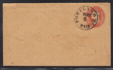 US 1855 Sc U10 TIED PORTLAND ME PAID CANCEL TO WINGHAM