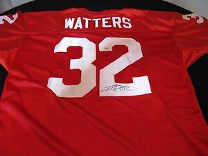 Ricky Watters San Francisco 49ers Signed Football Jersey PSA