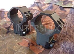 "Bruno Double Strap Quality Air Rifle Scope Mounts 1"" Tube - Medium / High"