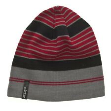 Alpinestars Lateral Striped Beanie Red Black Grey