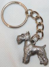 SCHNAUZER Dog Fine Pewter Keychain Key Chain Ring Fob
