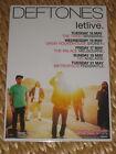Deftones - Australian Tour 2013 - Laminated Promo Poster