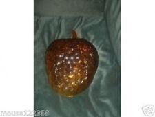 Huge Amber Fruit Bowl or Serving Bowl Grape design shape