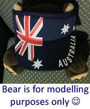 Australian Flag Gift Souvenir Sun Visor / Hat / Cap - Adult One Size Fits All