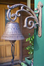 Rustic Country Solid Cast Iron Hanging Bell Entry Front Door Bell Vine M/S  CI73